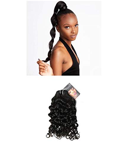 Imprint By Mau Raw Cambodian Curly Hair Extensions, 1 Bundle, Premium Quality Unprocessed Human Hairs, Natural Black (16 Inch)