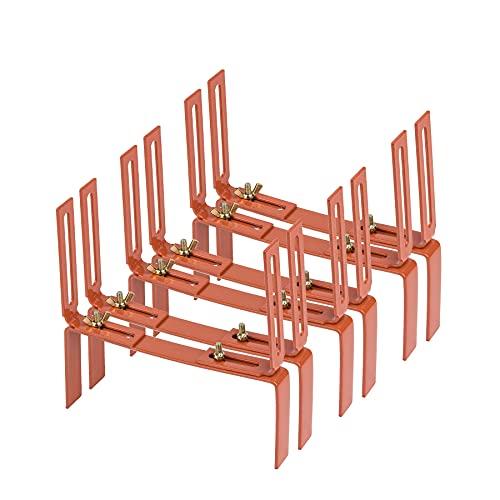 3 Paar Blumenkastenhalter terrakotta Standard H-Form Kasten Halter Balkonkastenhalter