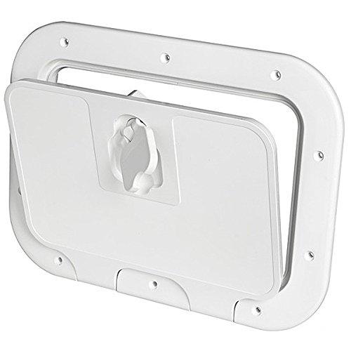 Osculati Kunststoff Inspektionsluke mit begehbarer Oberfläche - 280 x 380 mm, Farbe:grau
