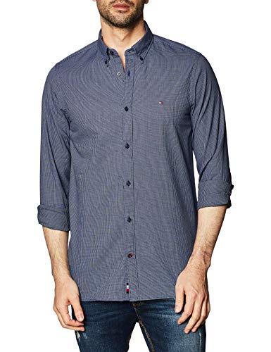 Tommy Hilfiger Herren Slim Textured Multi Dobby Shirt Hemd, Calm Blue/Desert Sky/White, L