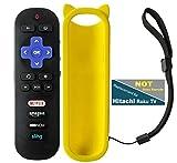 Replacement Roku TV Remote Control W/Free Silicone Case for Hitachi Roku TV