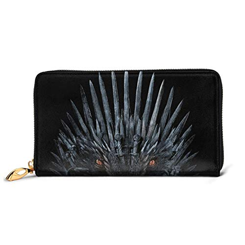 Game Thrones TV Show Cartera de cuero con cremallera bolsa de muñeca Multi-tarjeta de crédito para teléfono móvil bolsa de almacenamiento de monedas para hombres y mujeres