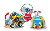 REV & ROLL – RC RUMBLE – Voiture Jouet Radiocommandée par Montre – Jouet Enfant Sensoriel qui roule et se trémousse issue du Dessin Animé Rev & Roll – Jouet Enfant 3 ans et +