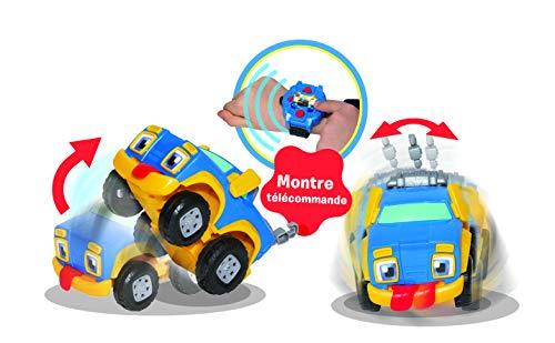 REV & ROLL - RC Rumble – Coche Juguete teledirigido por Reloj – Juguete Infantil sensorial Que enrolla y se treespuma derivada del Dibujo Animado Rev & Roll – Juguete para niños de 3 años y más
