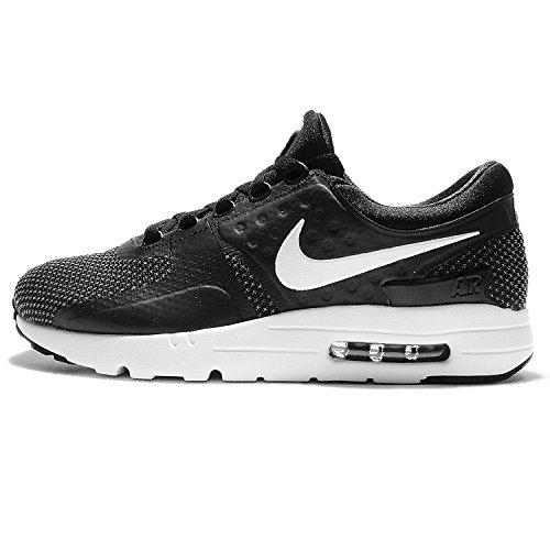 Nike Uomo, Air Max Zero Essential, Tessuto Tecnico, Sneakers, Schwarz (Black/White/Dark Grey), 40 EU