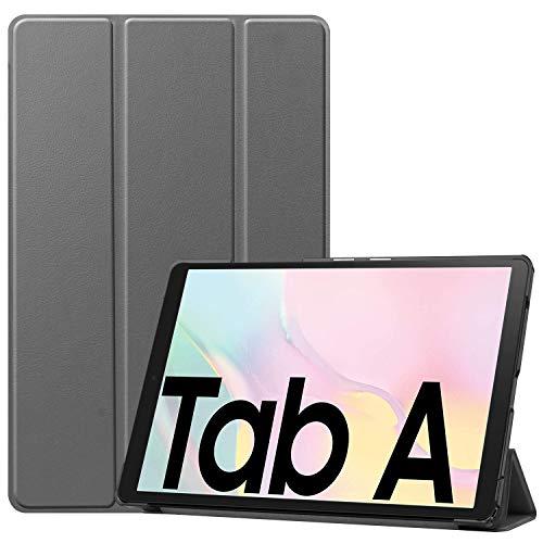 NUPO Hülle für Samsung Galaxy Tab A7 10.4 2020, Ultra Slim Cover Schutzhülle PU Lederhülle mit Standfunktion, Sleep Wake Up Funktion für Galaxy Tab A7 SM-T500/T505/T507 10.4 Zoll 2020, Grau