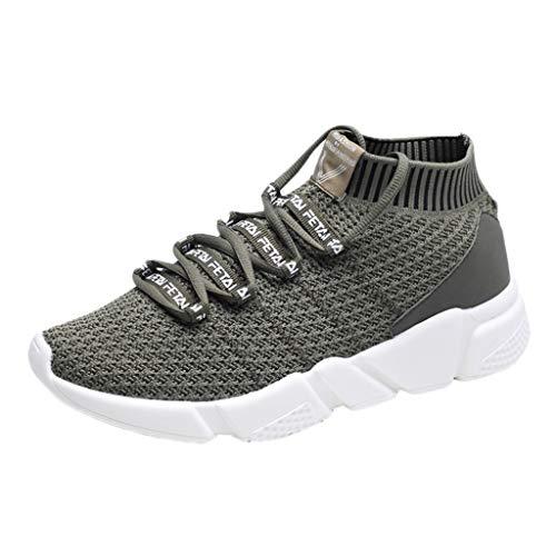 EUZeo_Schuhe EUZeo Herren Running Fitness Atmungsaktiv Sneakers Flache Knöchel-Turnschuhe mit Snake Optik Damen Herren Sportschuhe Leichte Schuhe Laufschuhe Straßenlaufschuhe