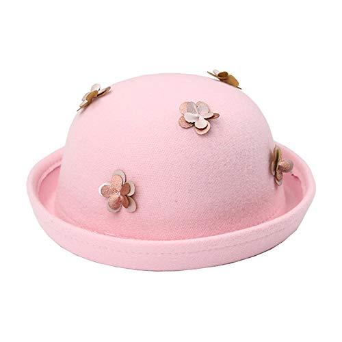 Jian E hoed voor kinderen, dames, lente en zomer, voor jongens, grote driedimensionale bloem van leer, koepel prinses, modieus, strohoed voor meisjes, 50 / 52 / 54 / 57 cm