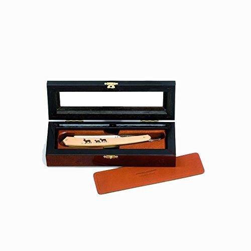 Actiforge Koffer für 1Rasiermesser–UHRMACHERLUPE MIT Abalone–Französisches Kunsthandwerk