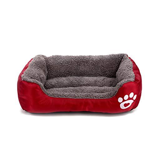 PETCUTE Cama para Perros Cama para Gatos Cachorros Calientes Cama para Mascotas con Forro de Felpa Cojín para Perros para el Invierno M