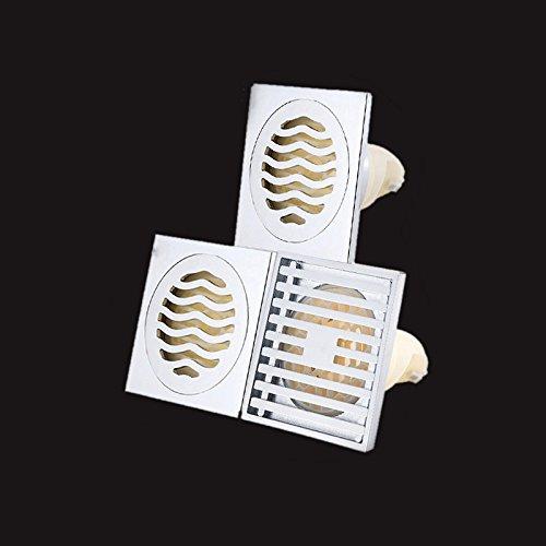 SJQKA Drain de Plancher Douche Toilette Siphon De Sol De Désodorisation Machine À Laver Eaux Usées Preuve Noyau Interne des Drains De Plancher Les Grands Déplacements,B
