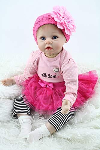 Mixbeek Simulation Wiedergeburt Babypuppe, Neugeborenes Mutter Trainingsbabykleidung Modell Puppe Rare Lebend Sammler Sleepy Reborn-Baby-Puppen Sehen Aus Wie Echt Wünsche Und Träume