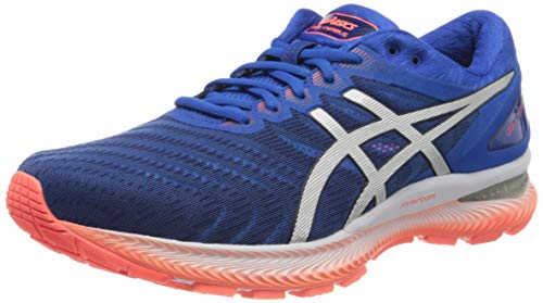 Asics Mens Gel-Nimbus 22 Running Shoe, Tuna Blue/Pure Silver, 46 EU