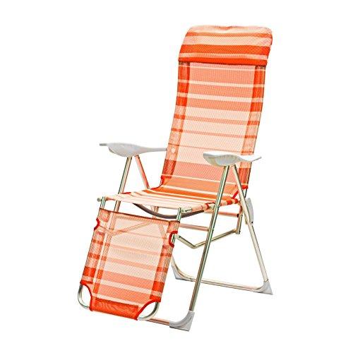 DEMA Alu Relaxsessel Sunnyvale orange gestreift