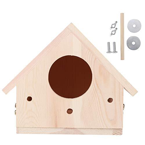 wosume Maison d'oiseau, Maison d'oiseau en Bois innovante extérieure Oiseaux Nidification Ornement de Cage de Reproduction pour Accessoires décoratifs de Patio de Jardin extérieur