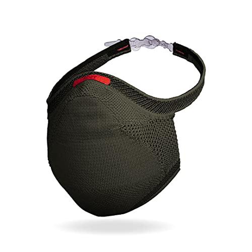 Máscara Fiber Knit Sport + Filtro de Proteção + Suporte (Verde Militar, G)