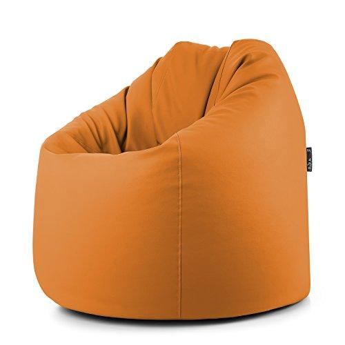 CAB POUFF Pouf-Orange-pUF Simili Cuir mATELASSÉE-Pouf dE 78 x 78 x 93 cm dÉHOUSSABLE eINRICHTUNGSGEGENSTAND Douces eT Moderne avec Fermeture éCLAIR