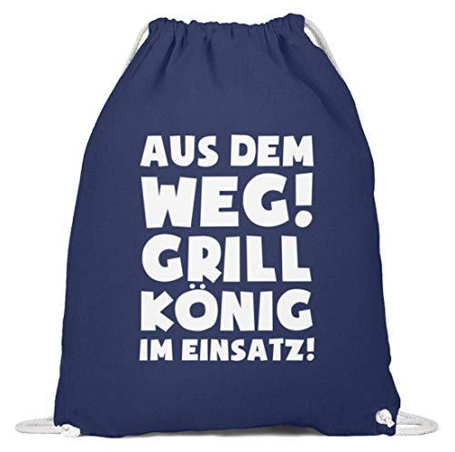 shirt-o-magic Barbecue: im Einsatz! - Baumwoll Gymsac -37cm-46cm-Marineblau