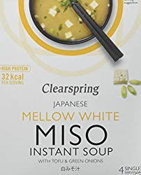 Miso is a flavourful Japanese soya food that makes a rich satisfying soup A rich, satisfying soup White miso base with tofu and spring onions Made to a traditional Japanese recipe Ideal for keeping handy at home, at work and when travelling