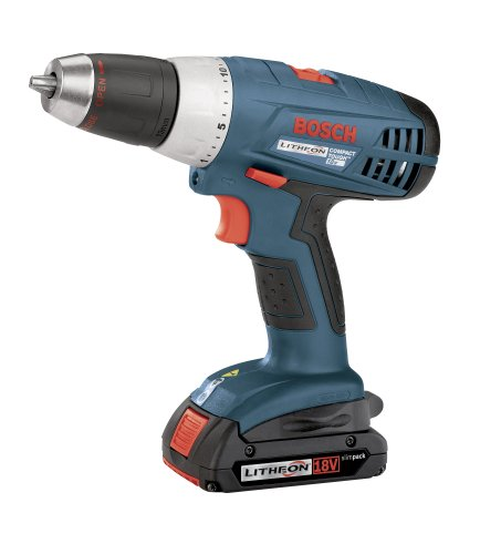 Bosch 36618-02 18-Volt 1/2-Inch Compact-Tough Litheon Drill/Driver with 2 Slim Batteries -