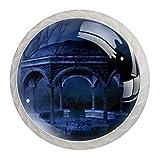 Perillas de gabinete de 4 piezas Perillas de tocador Perillas de cajón de cocinapuerta oscura gótica puerta puerta oscura Mango de cristal