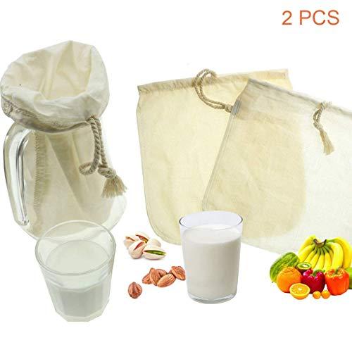 OldPAPA Filtro algodón orgánico zumos batidos, leche