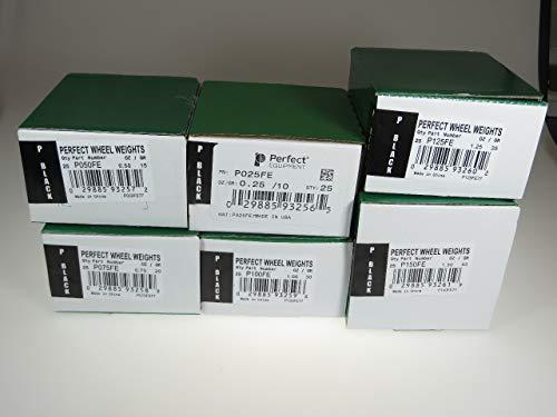 150 Pcs P Style Wheel Weight Assortment 0.25 - 1.50 ounce