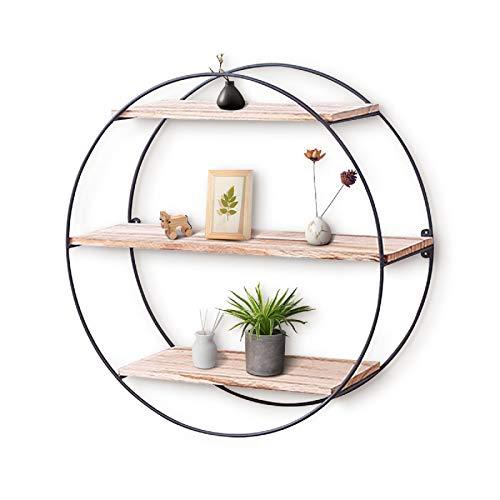 圆形木质装饰墙架,适用于卧室,客厅,浴室,办公室