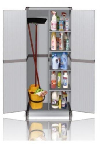 Schränke für externe Schrank Tür Besenhalter Gartentisch aus PVC