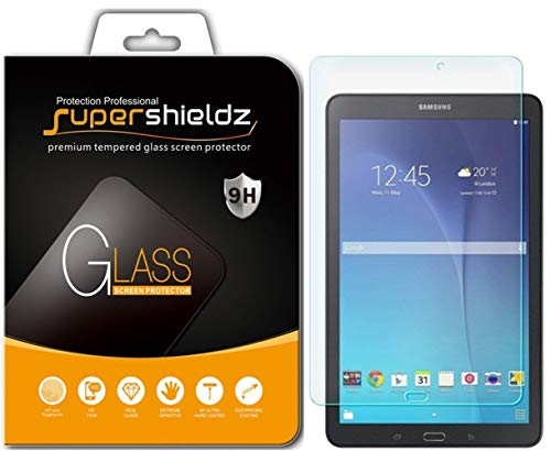 Supershieldz for Samsung Galaxy Tab E 9.6 inch Tempered Glass Screen Protector, Anti Scratch, Bubble Free
