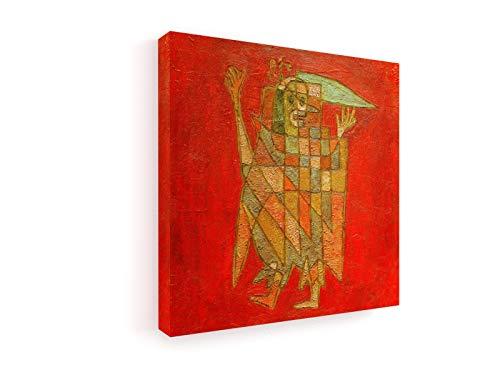 weewado Paul Klee - Allegorische Figur - 1927 40x40 cm Premium Leinwandbild auf Keilrahmen - Wand-Bild - Kunst, Gemälde, Foto, Bild auf Leinwand - Alte Meister/Museum