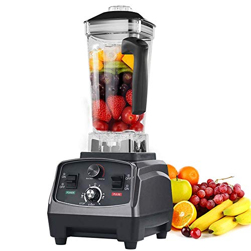 WXYLYF 3HP 1650W Heavy Duty Commercial Grade automatische Timer-Mixer Mixer Entsafter Obst Food Processor Ice Smoothies BPA frei 2L Jar