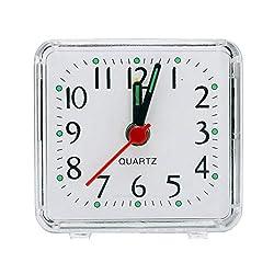 Alarm Clock Square Small Bed Compact Travel Quartz Beep Alarm Clock Cute Portable Cute Creative Fashion Student Small Clock,1
