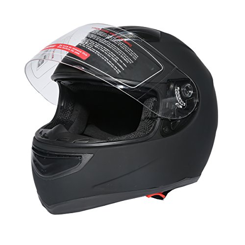 XFMT DOT Matte Black Dual Visor Full Face Motorcycle Helmet Motocross Racing Off Road Helmet