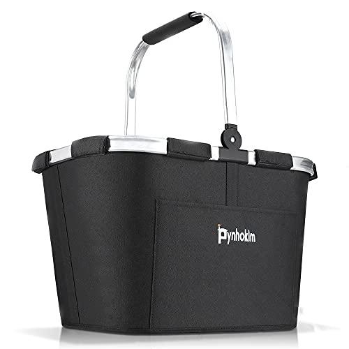 Pynhoklm Carrybag - Cesta de la compra con 25 litros de capacidad, práctica y manejable, 46 x 32 x 28 cm, color negro