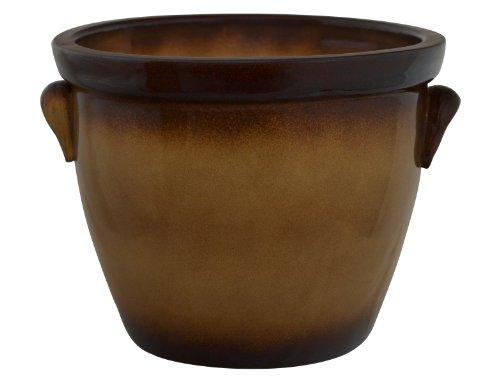 Pot, pot de fleurs avec crochet venus iI 50 x 40 cm-en grès (chiens céramique de grès de qualité)