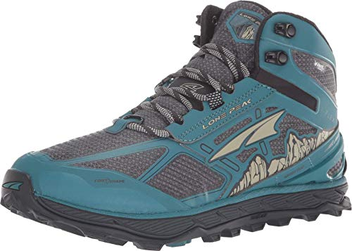 ALTRA Women's Lone Peak 4 Mid RSM Waterproof Trail Running Shoe, Green/Gray - 11 B(M) US