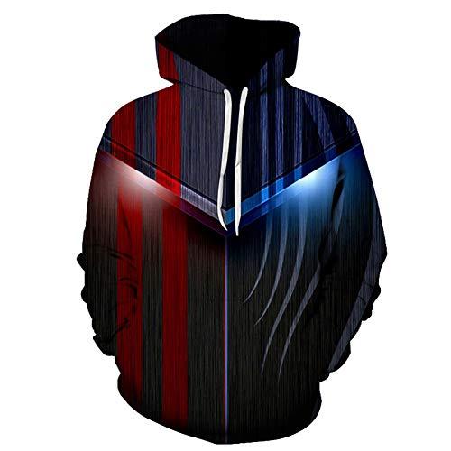 Mr.BaoLong&Miss.GO Sudadera Personalizada para Hombres Creative Muscle 3D Impresión Digital Sudadera con Capucha De Moda para Hombres