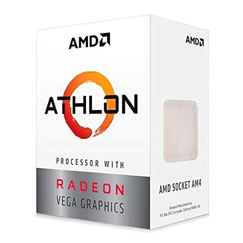 AMD Athlon 3000G 2-Core, 4-Thread Unlocked Desktop Processor with Radeon Graphics