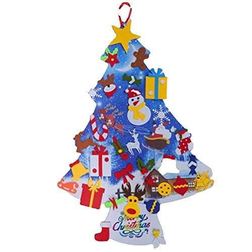 YSSClOTH Albero di Natale in Feltro 3D Decorazioni per L'Albero di Natale in Feltro da Appendere alla Parete Decorazioni per la casa in Feltro per Bambini
