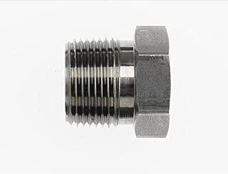 Brennan Industries 5406-HP-01 Steel Hollow Hex Pipe Plug, 1/16