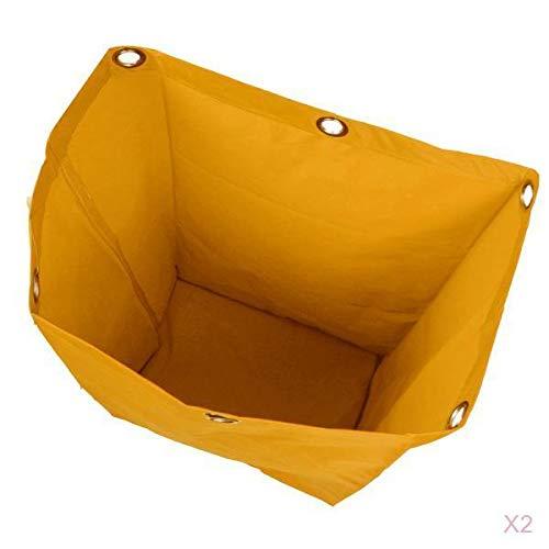 2 Piezas Bolsa Impermeable de Repuesto Para Carrito de Limpieza, para Hotel Hogar, 40x28x69cm, Amarillo