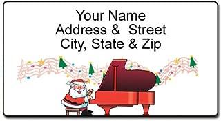 Piano Christmas Address Label - Custom Music Theme Return Address Label - 90 Labels
