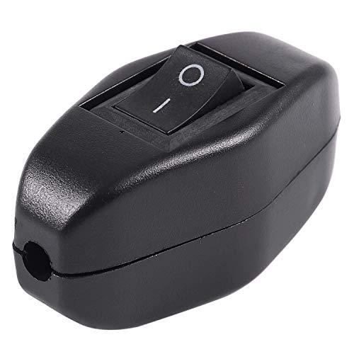 Varadyle Negro Interruptor de Boton de linea Encendido apagado 6A / 250VAC 10A / 125VAC para Dormitorio