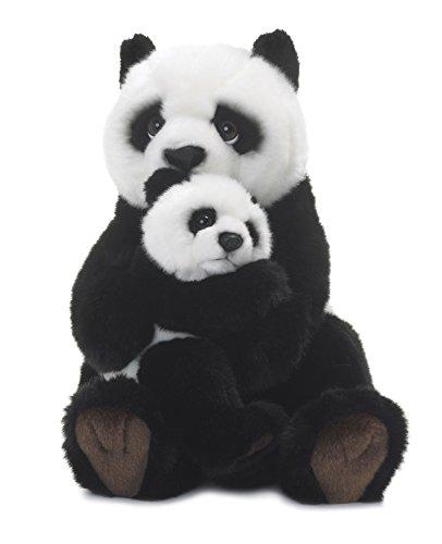 Wwf - 15183008 - Peluche - Maman Panda avec Bébé - 28 cm