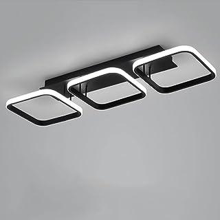 Plafonnier LED 3 Rectangles Moderne Style Nordique Stéréoscopique Noir Blanc Plafonnier pour Couloir Chambre Salon Bureau ...