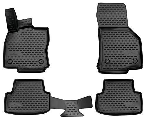 Walser XTR Gummifußmatten kompatibel mit VW Golf 7 BJ 2012 - Heute, Golf 8 BJ 07/2019 - Heute, passgenaue Auto Gummimatten, Autofußmatten Gummi
