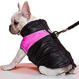 TFENG Hundemantel Hundejacke für Hunde, Warm Gepolstert Puffer Weste Welpen Regenmantel mit Fleece (Rosa, M)