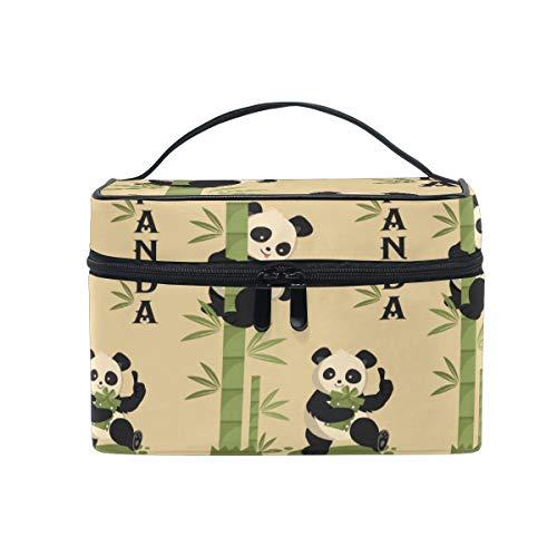 Panda De Bambou Trousse Sac de Maquillage Toilette Cas Voyage Sac Organisateur Cosmétique Boîtes pour Les Femmes Filles