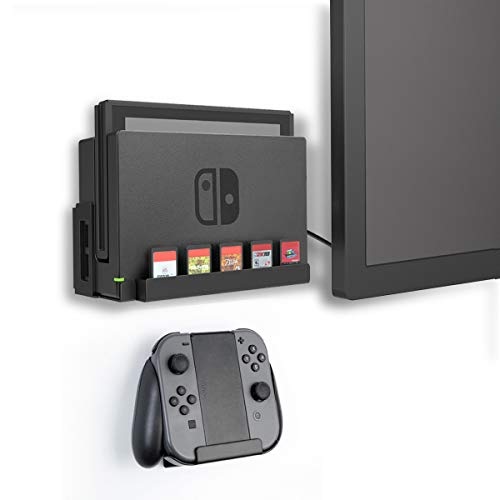 Monzlteck Wall Mount for Switch+Controller Mount,Game Card Holder,Solid Metal